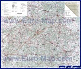 Автомобильная карта дорог Белоруссии