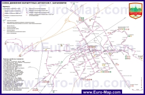 Карта маршрутов транспорта Барановичей