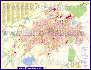 Подробная карта города Барановичи