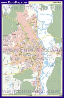 Автомобильная карта дорог Бобруйска