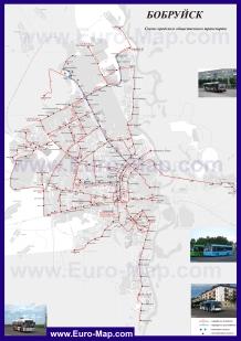 Карта маршрутов транспорта Бобруйска