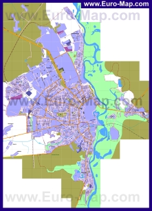 Подробная карта города Бобруйск