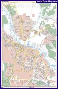 Автомобильная карта дорог Борисова