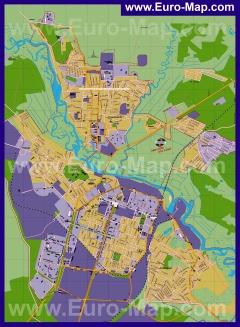 Подробная карта города Борисов