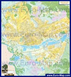 Подробная карта Бреста с домами