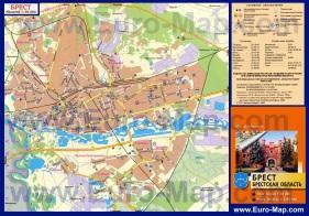 Туристическая карта Бреста с достопримечательностями