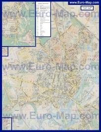 Карта Гомеля с районами и домами