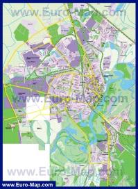 Подробная карта города Гомель