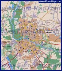 Автомобильная карта дорог Гродно