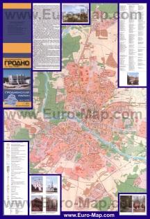 Подробная карта города Гродно с домами