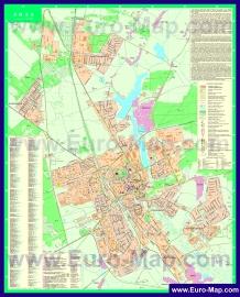 Подробная карта города Лида