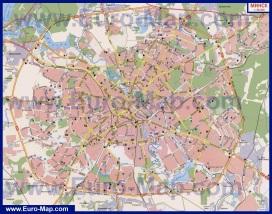 Автомобильная карта дорог Минска