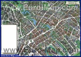 Туристическая карта Минска с домами