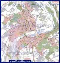 Автомобильная карта дорог Могилева