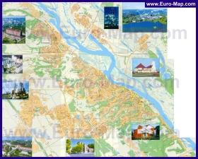 Подробная карта города Мозырь