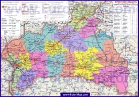 Административная карта районов Брестской области