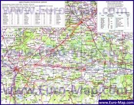 Физико-географическая карта Брестской области