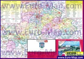 Административная карта районов Могилёвской области