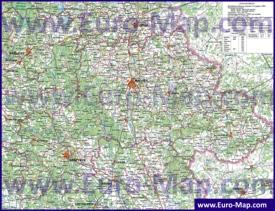 Подробная карта Могилёвской области с городами и деревнями