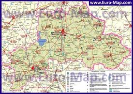 Туристическая карта Могилёвской области с достопримечательностями
