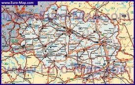 Автомобильная карта дорог Витебской области