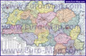 Подробная карта Витебской области с городами и деревнями