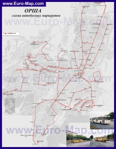 Карта маршрутов транспорта города Орша