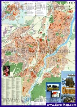Подробная карта города Орша