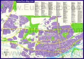 Подробная карта города Пинск