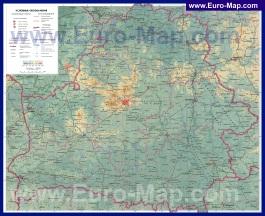 Подробная физическая карта Белоруссии