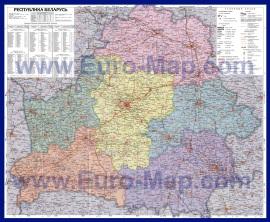 Подробная карта Белоруссии по областям