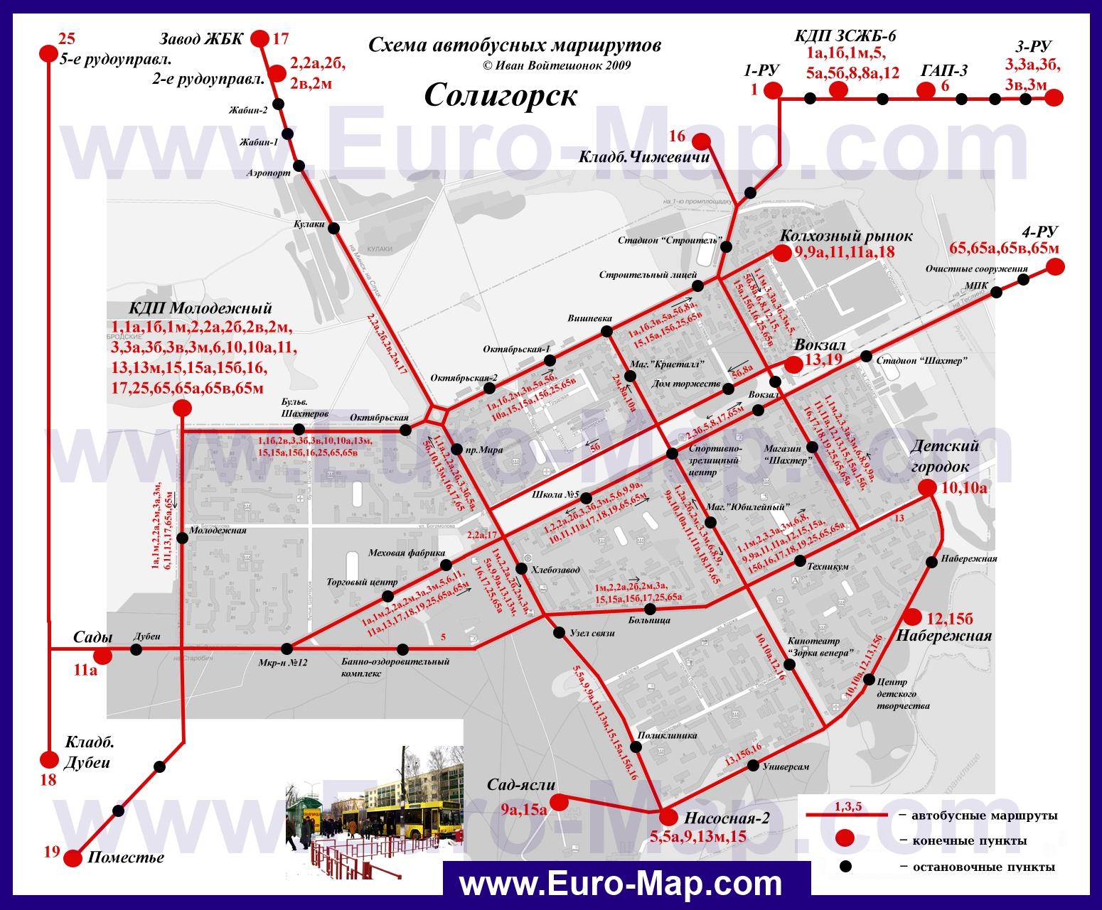 Карта С Маршрутами Транспорта Минска