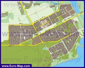 Подробная карта города Солигорск