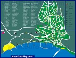 Карта города Балчик с отелями