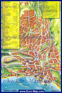 Туристическая карта Балчика
