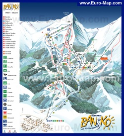 Карта горнолыжного курорта Банско с трассами