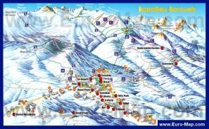 Карта отелей курорта Боровец