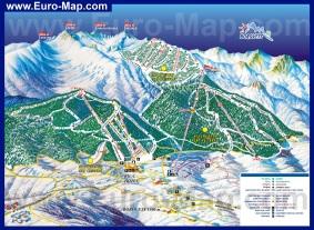 Подробная карта горнолыжного курорта Боровец