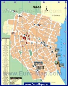 Туристическая карта города Бяла