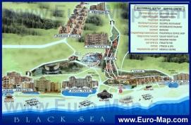 Туристическая карта курорта Елените