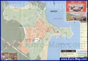 Подробная карта курорта Китен
