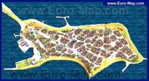 Карта города Несебр с достопримечательностями