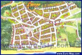 Туристическая карта курорта Обзор