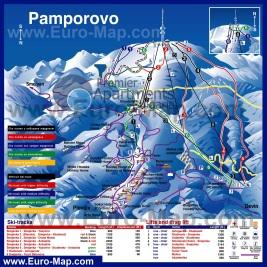 Карта горнолыжного курорта Пампорово с трассами