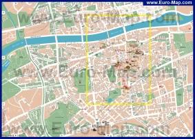 Карта Пловдива с достопримечательностями