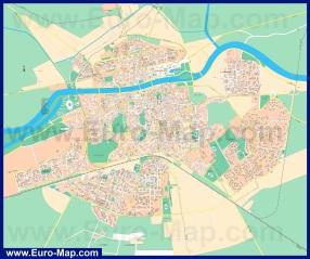 Подробная карта города Пловдив