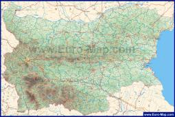Подробная карта Болгарии на русском языке