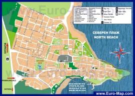 Подробная карта курорта Приморско