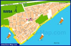 Подробная карта курорта Равда