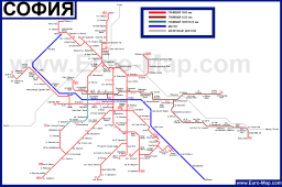 Карта транспорта Софии